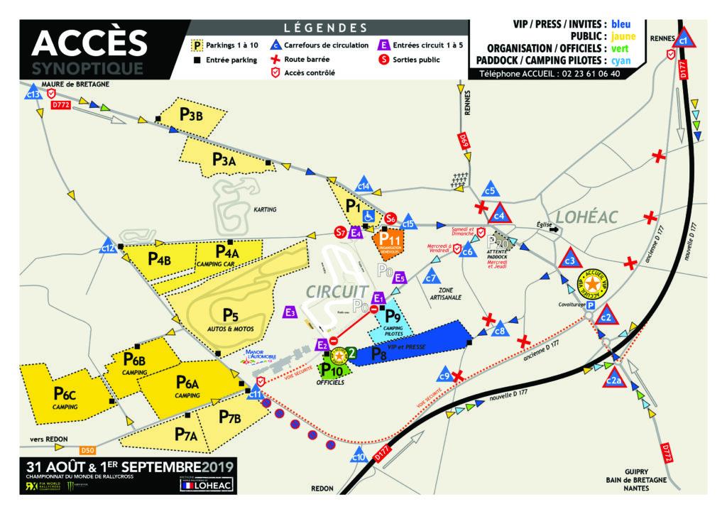 RX LOHEAC 2019 - Plans d'accès